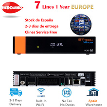 V8 Nova Satellite Receiver Gtmedia V8 NOVA HD 1080P Europe Clines for 1 Year Spain Built Wifi Dongle V9 Super Power by V8 Super