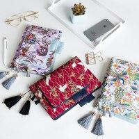 2019 Nhật Bản Vải Antique Bìa Bơm Lại Notebook Bìa Bullet Tạp Chí Dành Cho Hobonichi Lót/Grid/Blank/Kế Hoạch Refill A5 A6