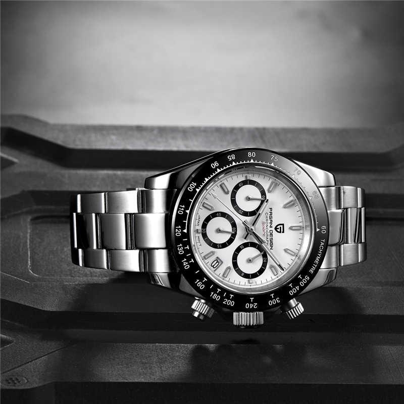 PAGANI עיצוב 2019 חדש גברים של שעונים ספורט קוורץ שעון גברים פלדה עמיד למים שעון זכר אופנה הכרונוגרף Relogio Masculino