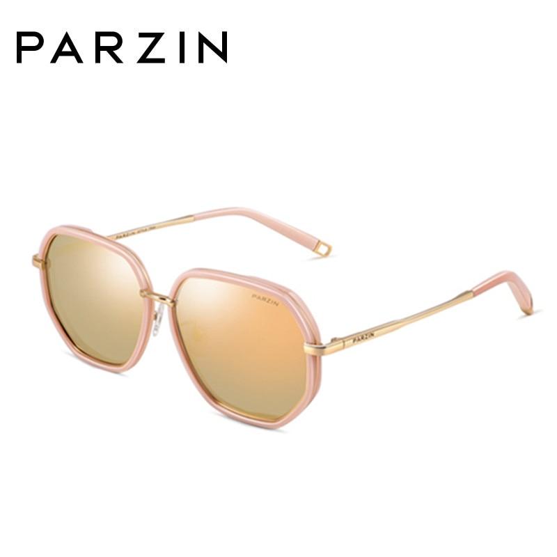 Sonnenbrille Bunte Rosa silver Metall Parzin Polarisierte Marke Spiegel Shades Frauen Rahmen Designe Beschichtung 9910 pink Weibliche Black XqxwE7Baw1