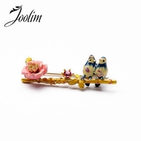 Cute Bird Branch Brooch Charm Jewelry Free Shipping