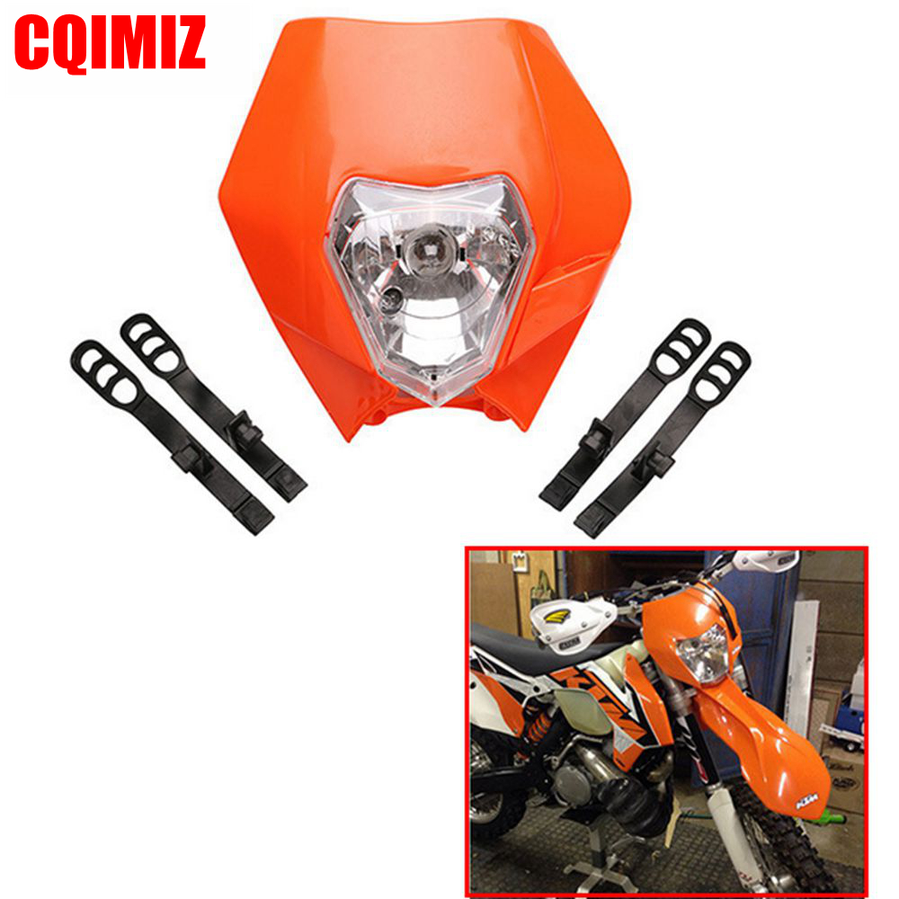 <font><b>Universal</b></font> Motorcycle <font><b>Dirt</b></font> <font><b>Bike</b></font> Motocross <font><b>Headlight</b></font> Fairing For KTM SX EXC 4 Colors Available image