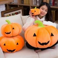 Fancytrader Giant Halloween Pumpkin Plush Toy 60cm Stuffed Orange Halloween Decoration Pumpkin Pillow Cushion