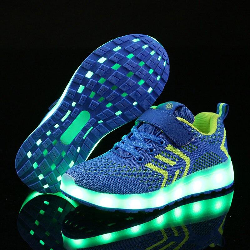 Warm wie home 2017 Neue 25-37 Usb-ladegerät Glowing Turnschuhe Led Kinder Beleuchtung Schuhe Jungen/Mädchen beleuchtet Luminous Sneaker