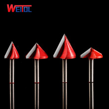 Weito A CNC 60 90 120 150 Degree 3D V-Type Cutter 3D V Bits Engraving Tools For Engraving Machine 2 flutes woodworking tools