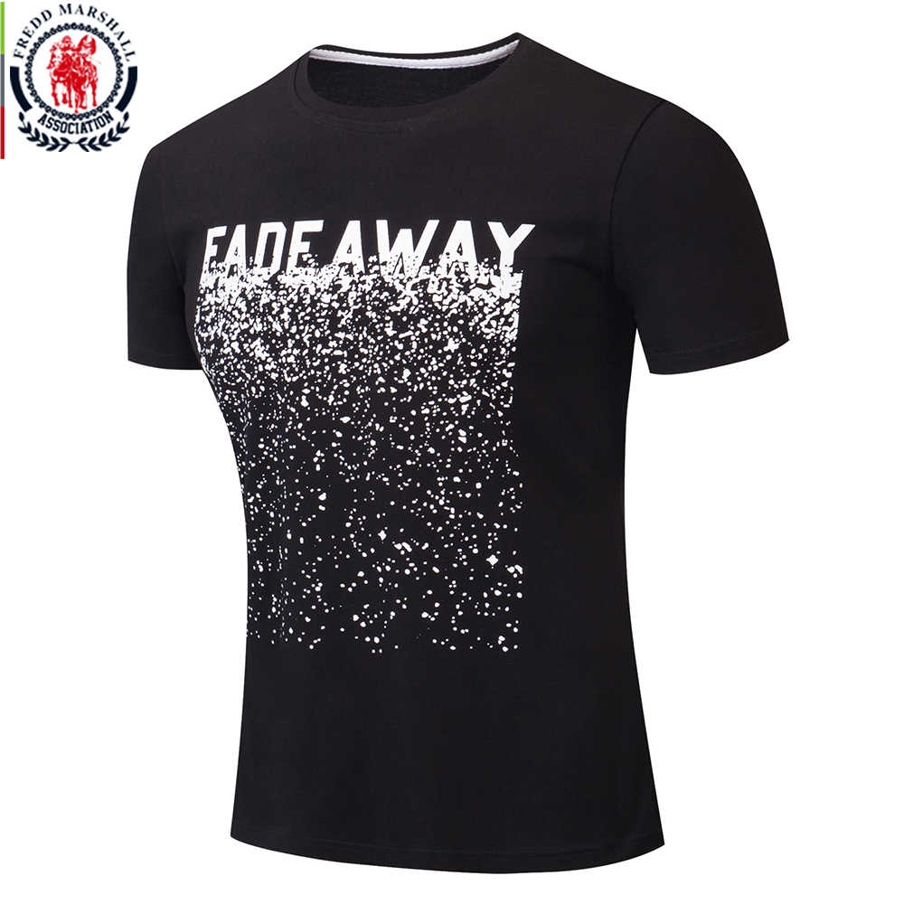 Fredd Marshall Fashion 2018 New 100% Cotton Print T Shirt Men Short Sleeve Casual T-shirt Male Tshirt Tops Brand Clothing 313