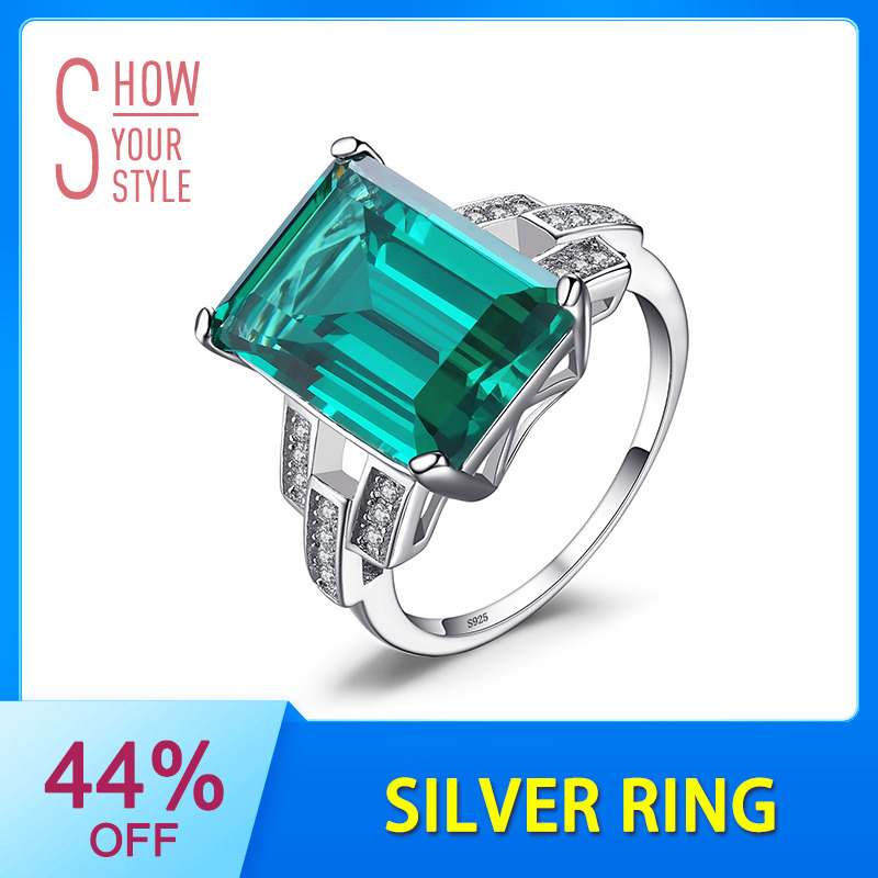 Jewelrypalal الفاخرة 5.9ct إنشاء خاتم كوكتيل - مجوهرات راقية