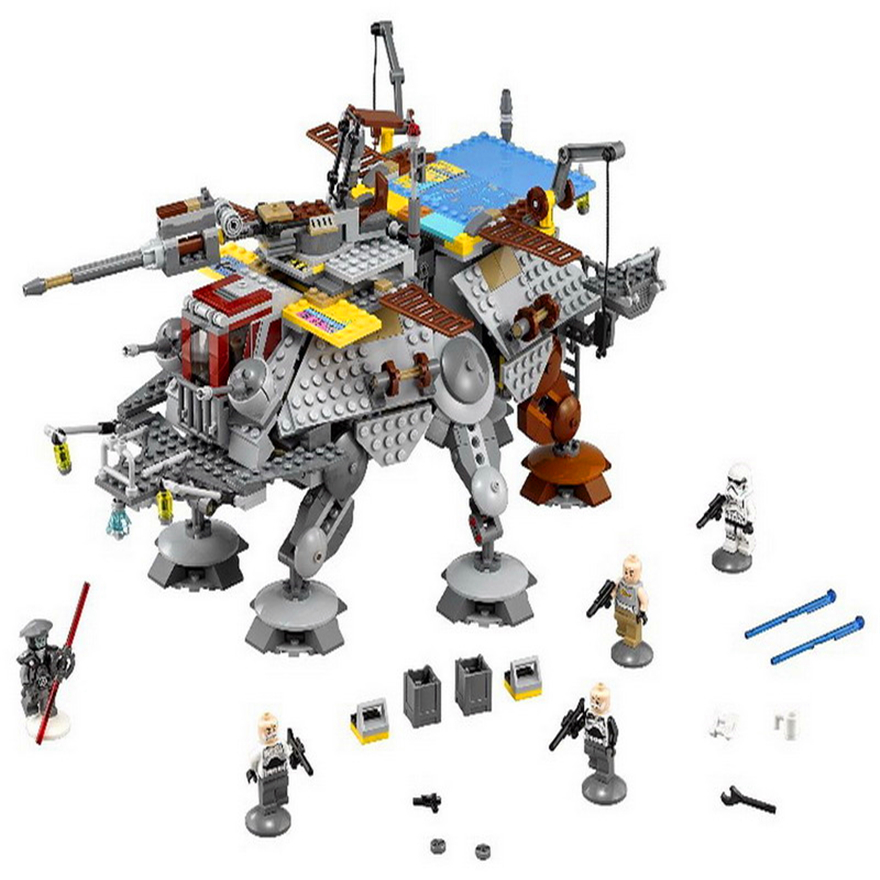 LEPIN 05032 Star Wars Rex's AT-TE Model Building Block Toys 1022Pcs DIY Educational Gift For Children Compatible Legoe 75157 lepin 01018 snow queen princess anna elsa building block 515pcs diy educational toys for children compatible legoe