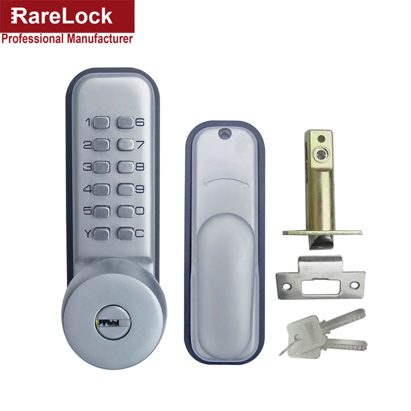 LHX Keypad Mechanical Combination Lock Numeral Door Digital Lock Zinc Alloy Password Non-Power Locks With Key a high tech door locks apartment combination lock touch keypad for door access