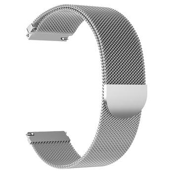 EXRIZU 20mm Magnetic Metal Stainless Steel Watch Strap Wrist Bracelet for Xiaomi Mi Quartz Watch Amazfit Bip Lite GTS GTR(42mm)