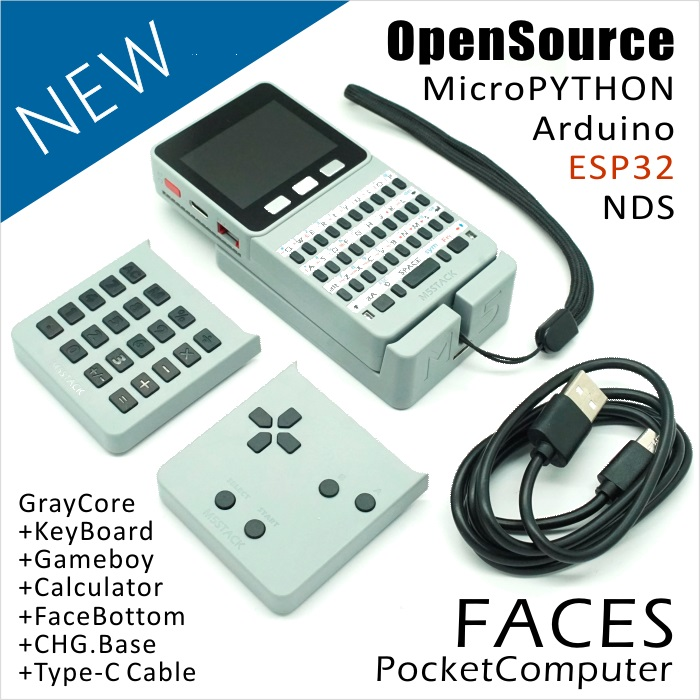 M5Stack NEW Offer ESP32 Open Source Faces Pocket Computer with Keyboard PyGamer Calculator for Micropython Arduino