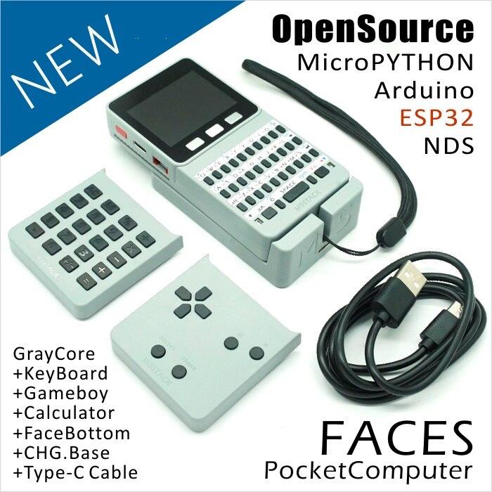 M5Stack nouvelle offre! ESP32 Open Source visages ordinateur de poche avec clavier/Gameboy/calculatrice pour Micropython Arduino