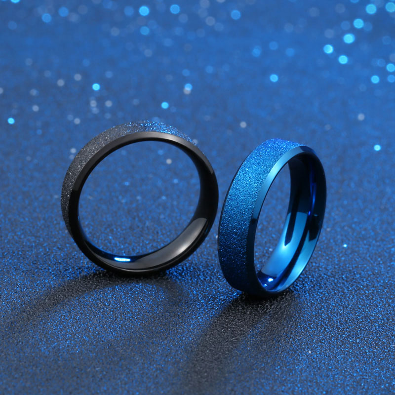 Free Shipping Unisex Party Ring Jewelry 316L Stainless Steel 6MM/8MM Scrub Ring For Man and Woman Couple Lovers Jewelry  titanium ring