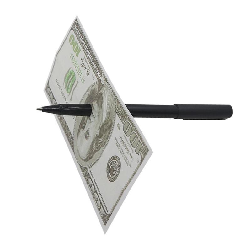 1 pc Durch Bill Penetration Dollar Bill Stift Tricks Magie Stift Durch Dollar Magie für Magie Zeigen Magie Prop Kinder spielzeug - 2