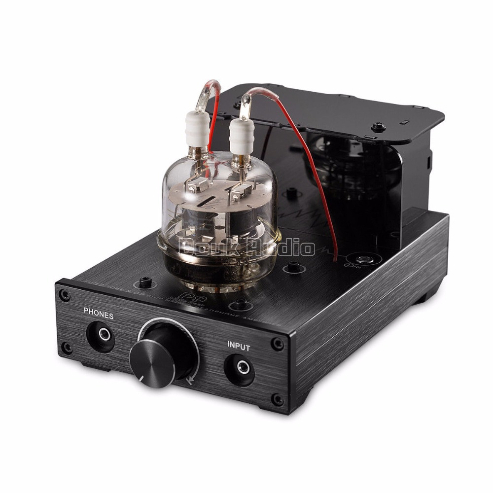 2017 New Nobsound HiFi Mini FU32 Vacuum Tube Headphone Amplifier Stereo Audio Hybrid Amp Black appj pa1502a 6n4 6p6px2 tube headphone amplifier black