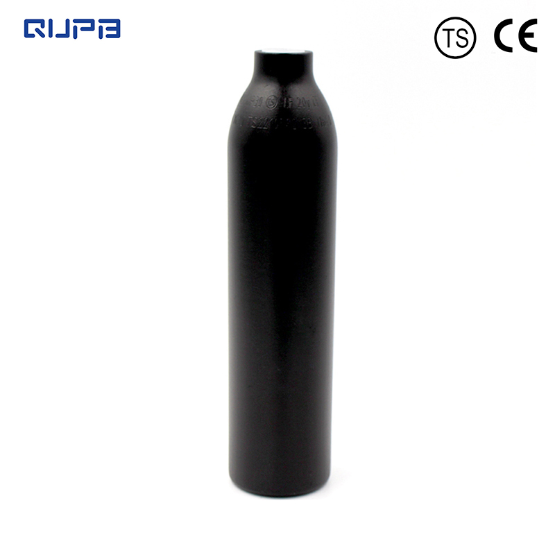 QUPB 0.35L Paintball High Pressure Cylinder Custom Bottle 4500psi HPA Tank 21CI Black  M18*1.5Thread TKM035