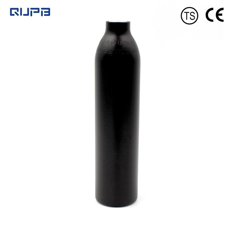 QUPB 0.35L Paintball High Pressure Cylinder Custom Bottle 4500psi HPA Tank 21CI Black  M18*1.5Thread TKM035