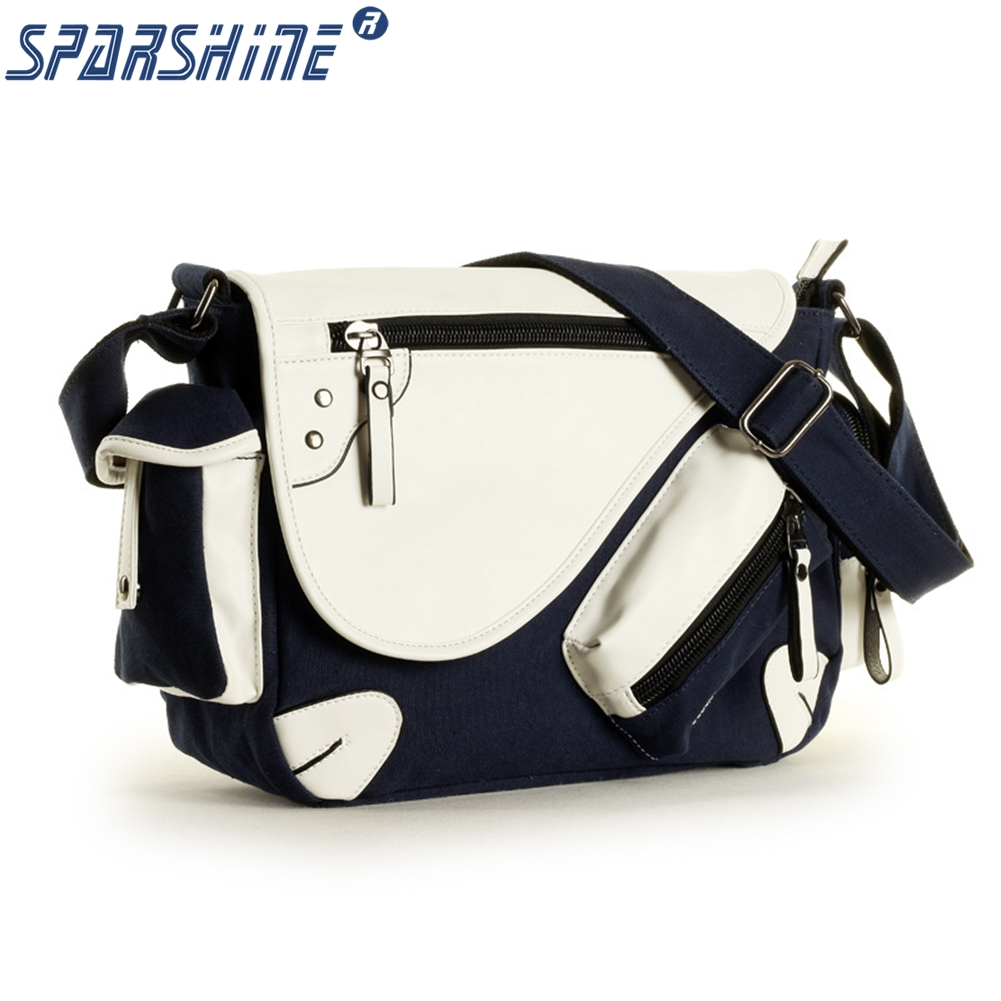 Men s Bags Shoulder bags Leather and Canvas Single Shoulder Strap Male High Capacity Vintage Messenger