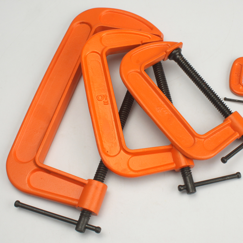 "New Heavy Duty 2/"" 3/"" 4/"" 6/"" 8/"" G Clamp Vice Wood Metal Steel DIY Welding Work New"