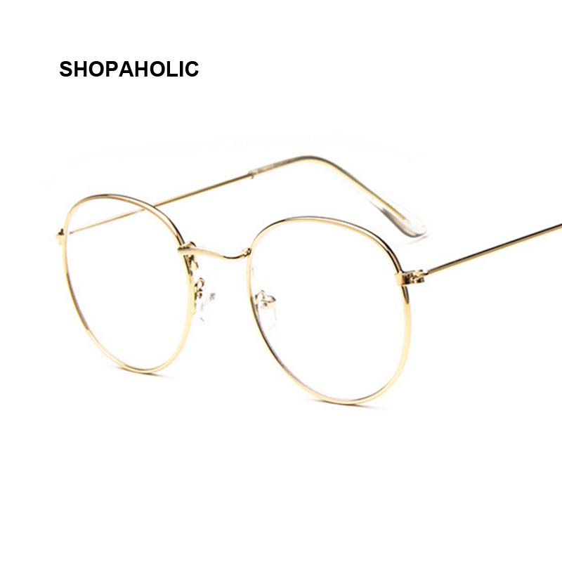 Vintage Round Sunglasses Women Female Brand Designer Metal Frames Mirror Sun Glasses For Women Retro Oculos De Sol