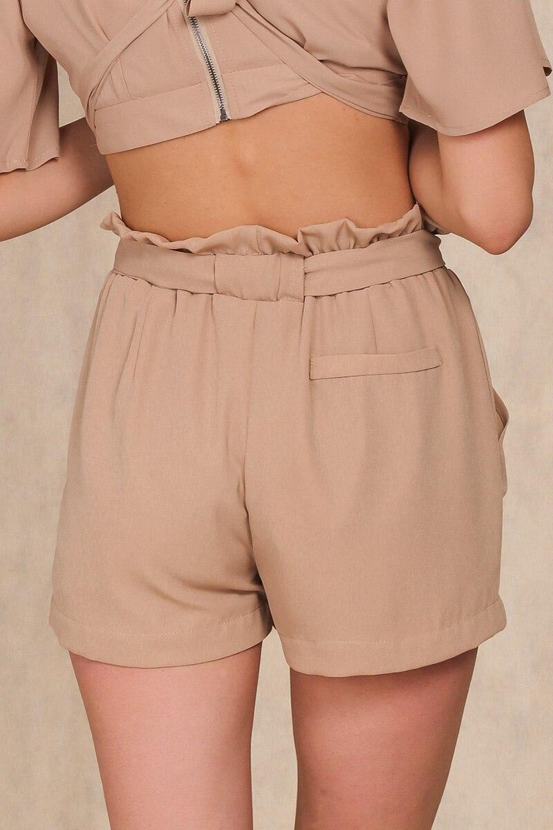 HTB1RUpyLFXXXXaoXFXXq6xXFXXX2 - Chiffon shorts Bow high waist  belt PTC 94