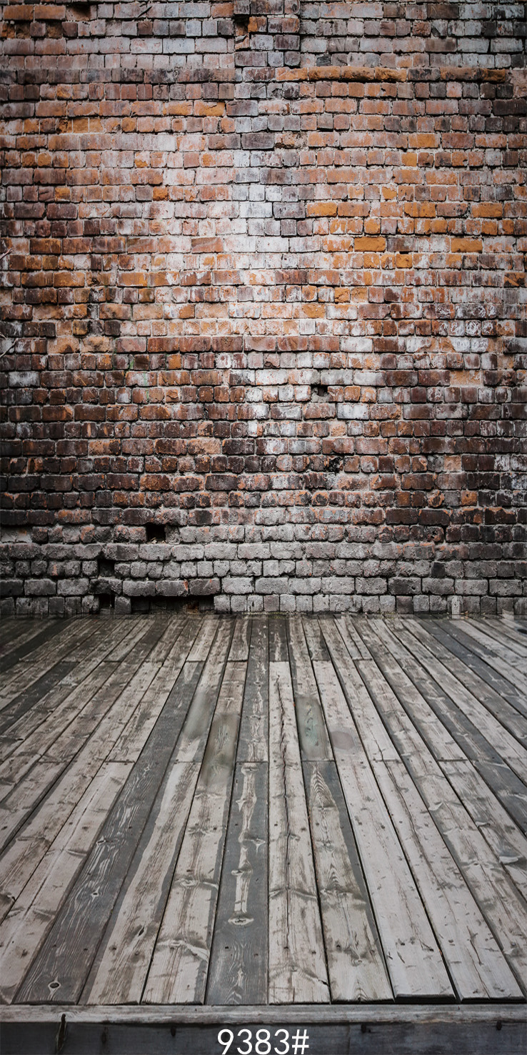 Brick wall photography backdrops  wood floor background  Backgrounds for photo studio 300x600cm Fond studio photo vinyl 9383