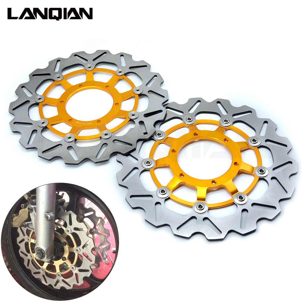 For Honda CBR600RR 03-14 CBR1000RR 04 05 CB1300 03-09 Motorcycle Front Floating Brake Disc Rotor CBR 600 600RR 1000 RR 1000RR 2018 children s clothing new short sleeved girls printed shoulders children princess puff dress baby girl clothes baby