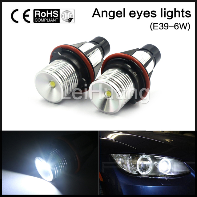 6W BRIGHT 6000K LED ANGEL EYES HALO BULBS 02 08 For BMW 745I/745LI