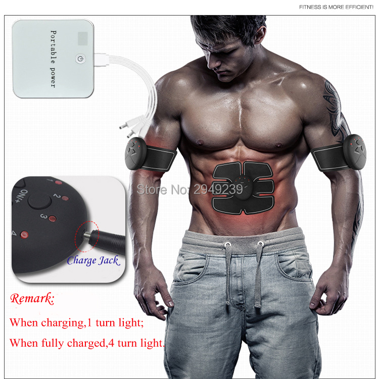 Rechargable Abdominal Muscle Toner Wireless Electric Stimulator Massager TENS Back Pain Relief ABS Fit Smart EMS Muscle KXS-15 portable electric smart fitness gear equipment slim massager ems electrical muscle stimulator muscle stimulator training gear