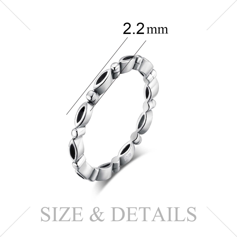 JewelryPalace Vintage สีดำวงกลมเคลือบแหวน 925 แหวนเงินสเตอร์ลิงสำหรับสตรี 2018 ใหม่ของขวัญเครื่องประดับที่ดีที่สุดสำหรับหญิง