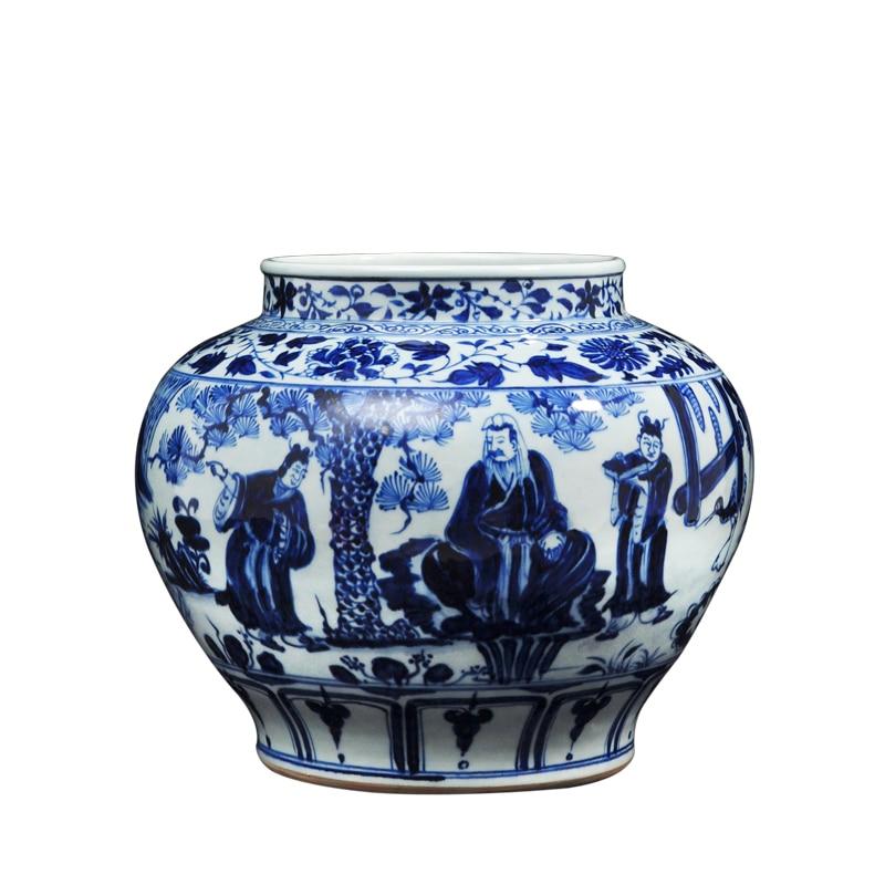 керамическая ваза рисунок - Antique ceramic vase Chinese Blue and White Porcelain Figure Vases
