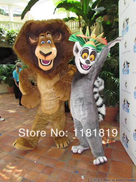 MASCOT lemur and leo mascot costume custom fancy costume anime cosplay mascotte fancy dress carnival costume