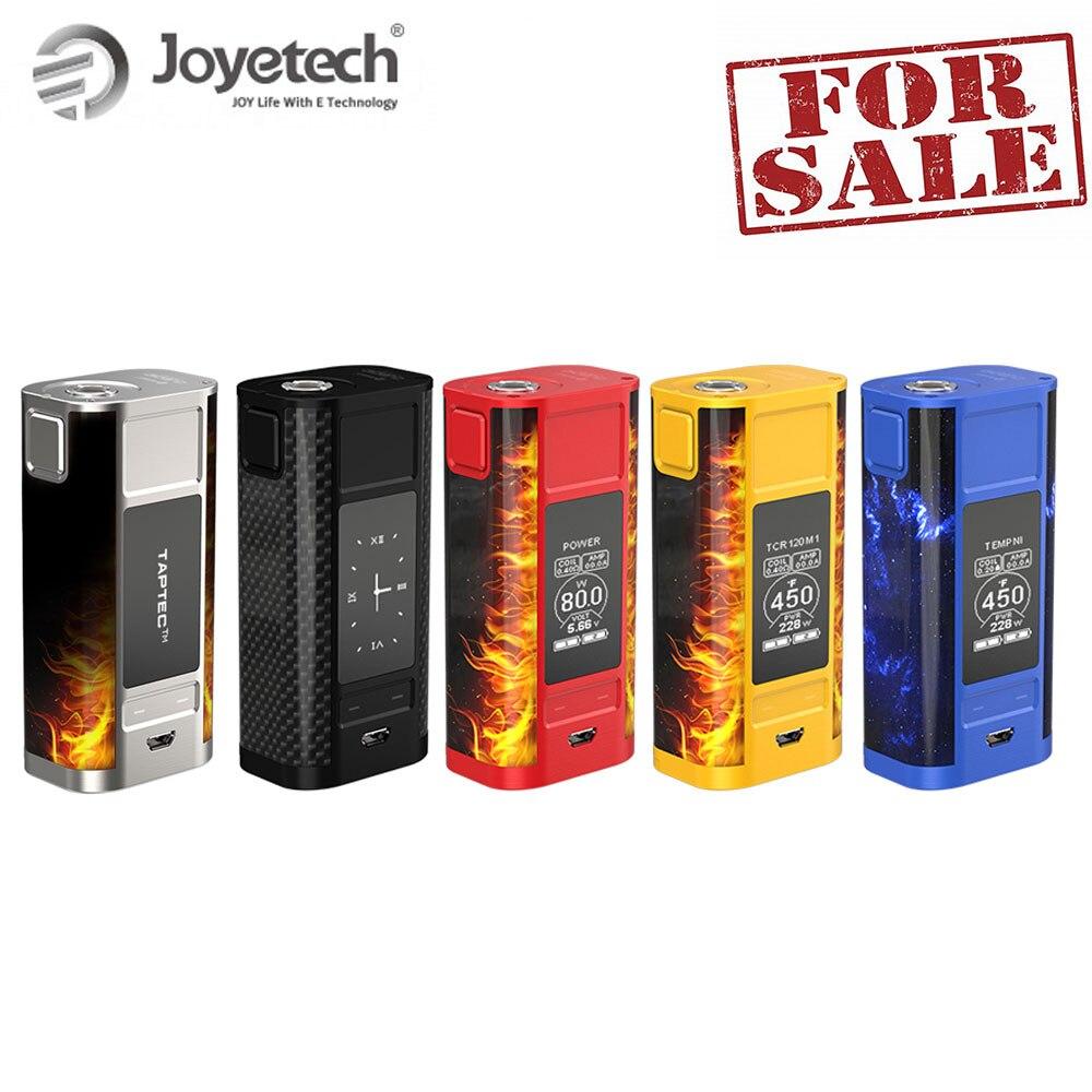 100% Original Joyetech cuboide grifo TC Mod Kit de caja con pantalla OLED cuboide grifo Mod 228 W batería caja Mod e-cig de potencia Kit 18650