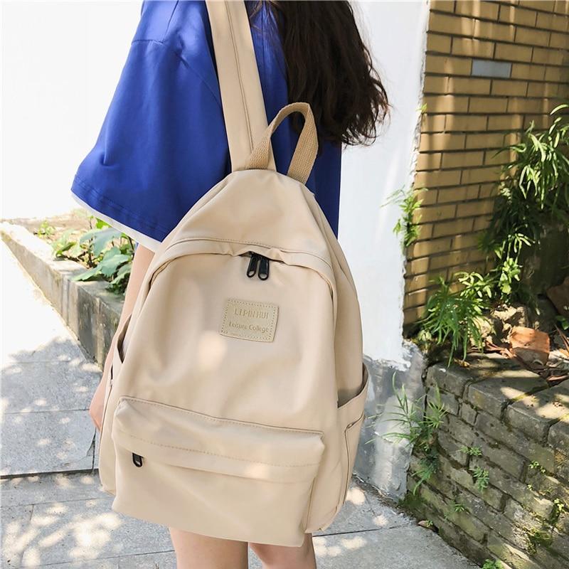 Fashion Waterproof Nylon Women School Backpack For Teenage Girl Boy Feminina Lady Shoulder Bag Rucksack Schoolbag Female Mochila