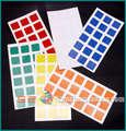 6 unidades/pacote Marca DIY ZhanChi Cubo Mágico Superfície Lisa Doente Tradicional Cubo Adesivo Cor cubo Mágico acessório brinquedos Educação