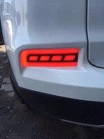 EOsuns LED Warning Light Brake Light Turn Signal Rear Bumper Light Reflector For Honda Crv 2012