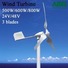 500 Watt 600 Watt 12 V 24 V 48 V 3 klingen Horizontale Windkraftanlage Free Energy Seefischerei Wind Generator