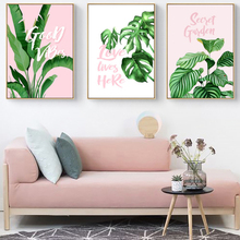 Nordic Posters Tropical Plant Leaves Canvas Painting Prints Living Room Home Decor Modern Wall Art Pictures HD