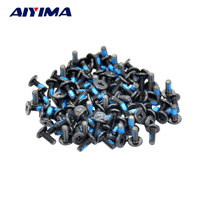 AIYIMA 100pcs M2*3/4/5/6/8/10mm Small flat head Laptop Screws Mobile notebook cruciform slot  cross recessed screw купить windows mobile 6 5 3 professional