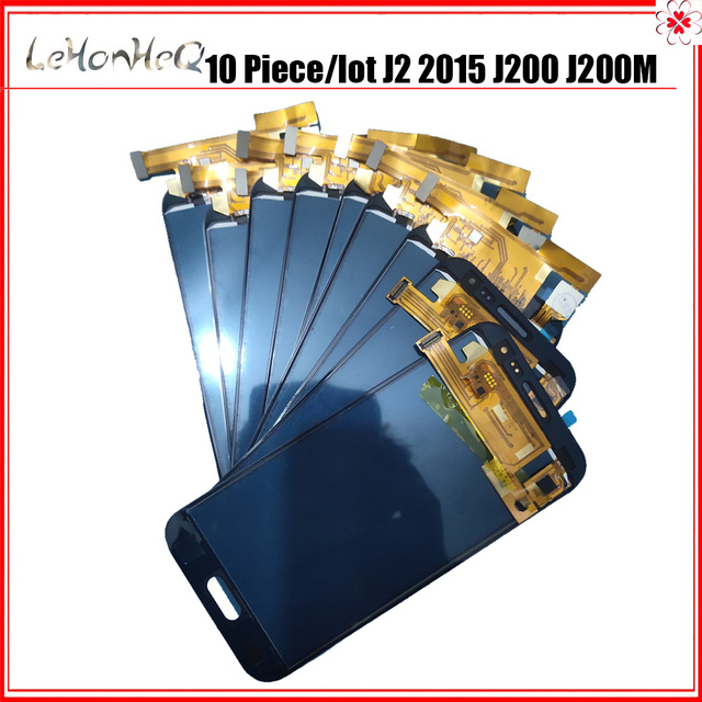 10 pieces/lot LCD For Samsung Galaxy J2 2015 J200 J200M LCD Display Touch Screen Digitizer Assembly