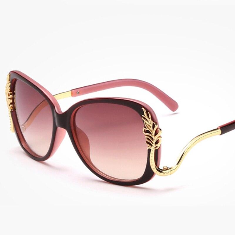 Flor Oval Óculos de Sol Das Mulheres de Grandes Dimensões de Alta Qualidade  Lentes Progressivas Moda UV400 Óculos de Sol Das Mulheres Designer de Marca  de ... 110442c0de