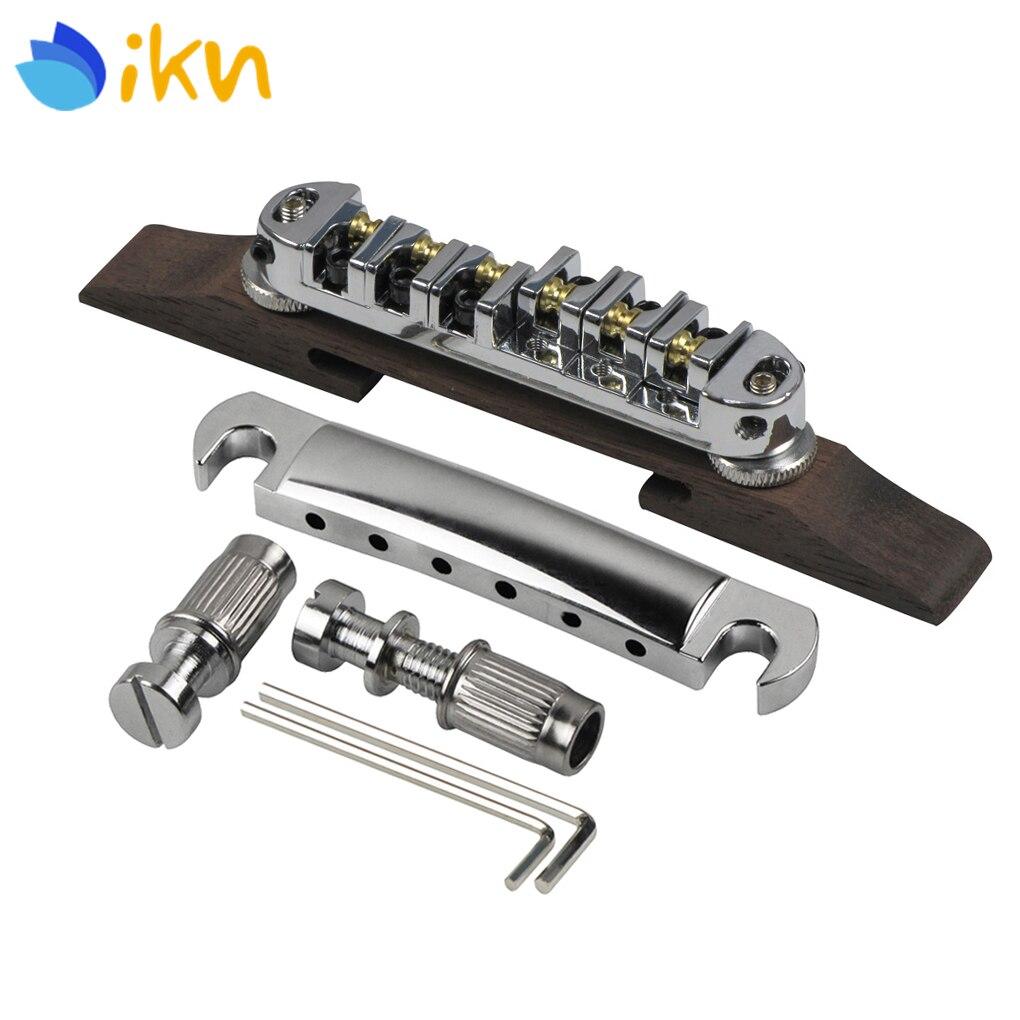 Jazz Guitar Accessories : new set of height adjustable roller saddles bridge rosewood base tailpiece for archtop jazz ~ Hamham.info Haus und Dekorationen