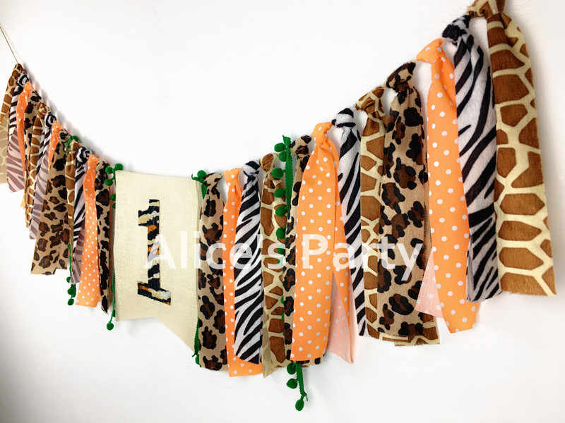f141c0b2b ... New Safari Jungle Birthday Highchair Banner Garland 1st 2nd 3rd Party  Decorations Zoo Cake Smash Animals ...