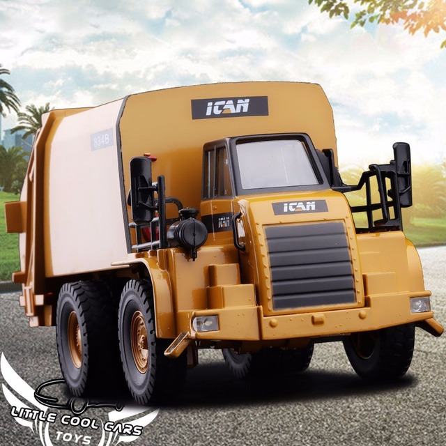 1:50Sound and Light Version Garbage Truck toy Models Alloy Materials Handling Vehicles Clean Sanitation Trucks Car Toy 834B