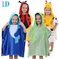 Idgirl albornoces de algodón con capucha animal modelado bebé albornoz niños de dibujos animados bebé towel 0-6 años chico spa toallas ye0014