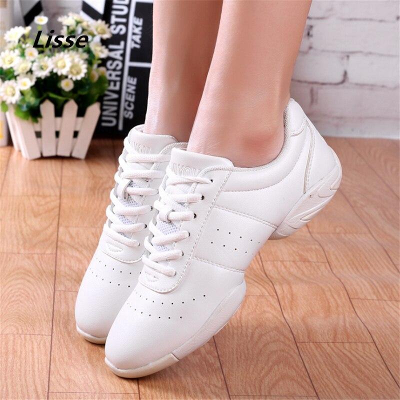 2018 Competitive Aerobics Shoes Women Ladies Breath Fitness Dance Shoes Men Dance Sneakers Jazz Dancing Practice Shoes