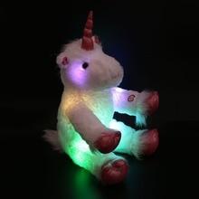 30cm/40cm LED Lumious Night Light Stuffed Unicorn Colorful  LED Plush Toy