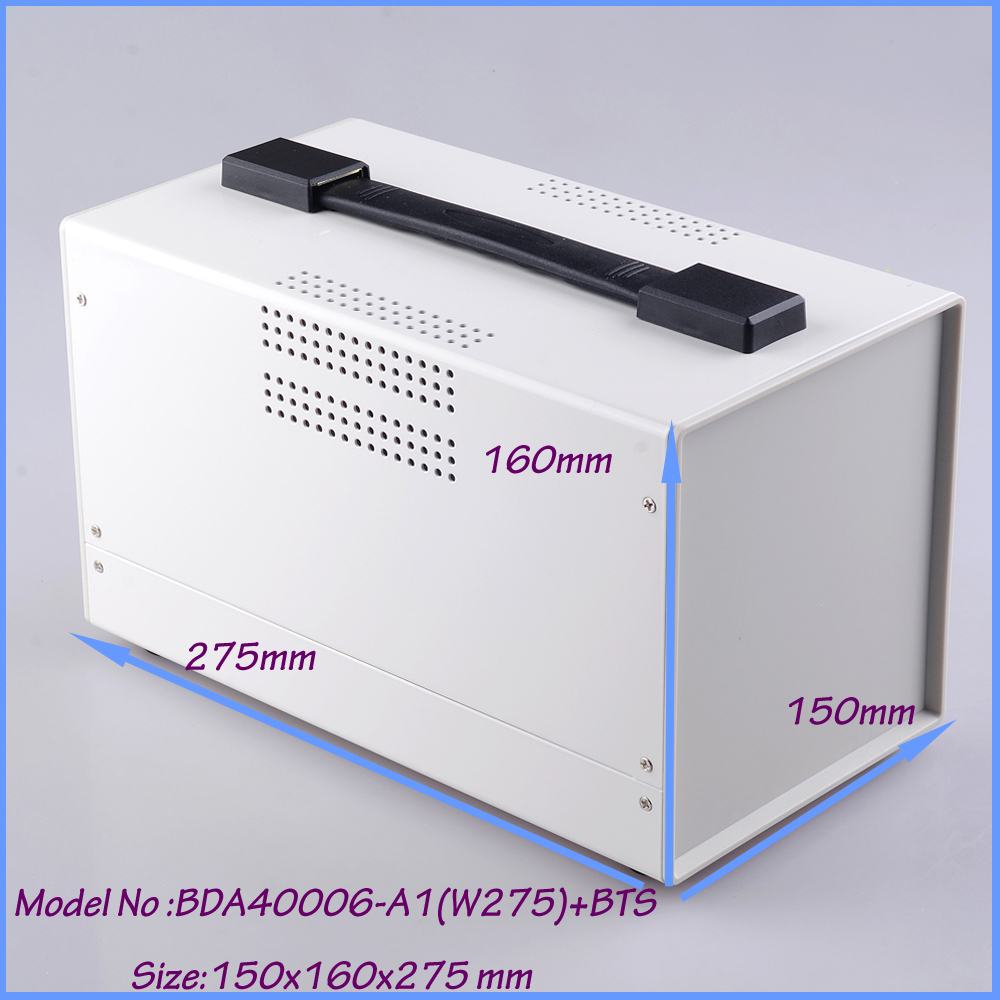 1 piece white color handheld iron housing diy box 150x160x275 mm iron light box enclosure 1 piece distribution instrument case housing high quality black and white color 69x149x140 mm surface with vents