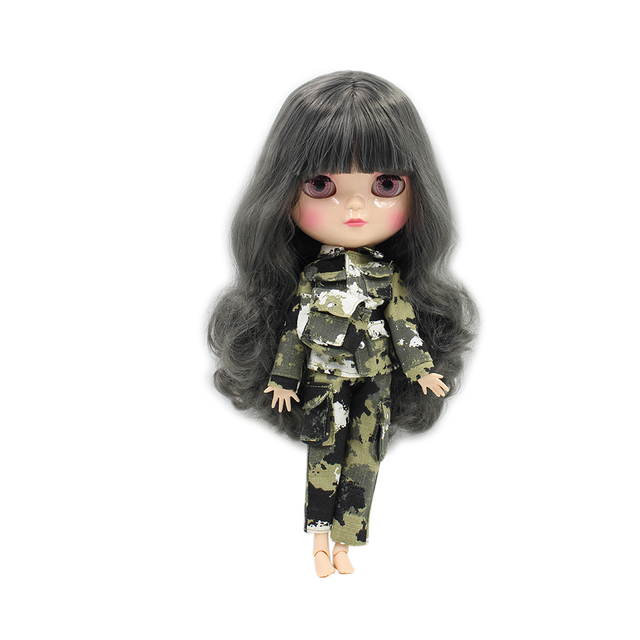 Fortune Days New ICY DBSDoll Azone Joint Body Grey Hair Small Chest Gray Hair Full Set Clothes, Shoes, Hand Set and Stand BL9016