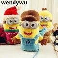 WENDYWU 0-5 Лет зима дети мультфильм маленькие желтые люди перчатки теплые перчатки дети плюс толстый бархат перчатки ребенка перчатки